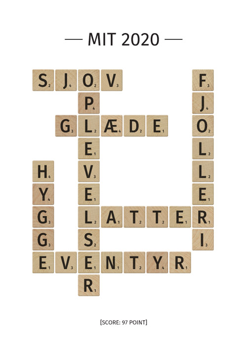 Scrabble plakat med motiverende ord